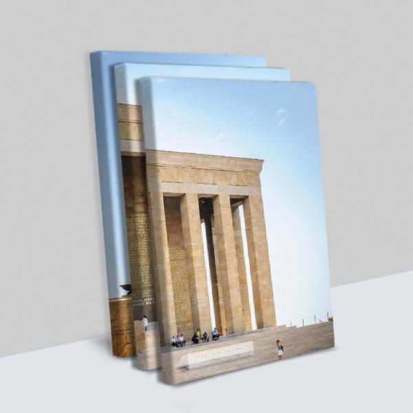 Anıtkabir Tasarımlı 3 Parça Kanvas Tablo