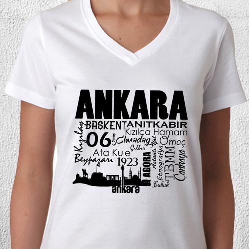 Ankara Tasarımlı Baskılı Tişört