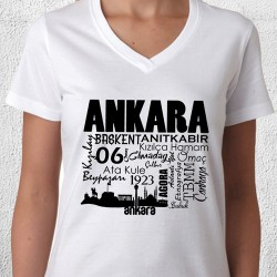 Ankara Tasarımlı Baskılı Tişört - Thumbnail