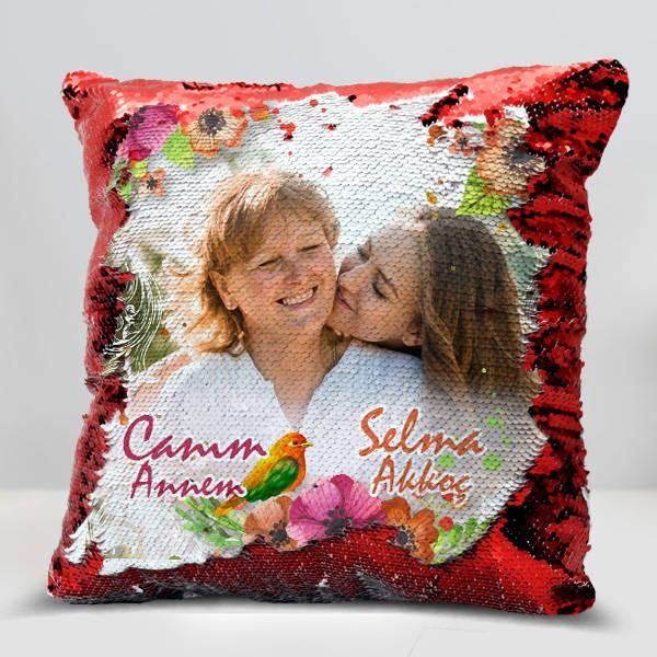 Anne Sevgisi Fotoğraflı Sihirli Yastık