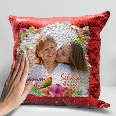 Anne Sevgisi Fotoğraflı Sihirli Yastık - Thumbnail