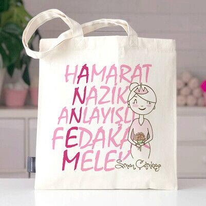- Anne Vasıfları İsimli Bez Çanta