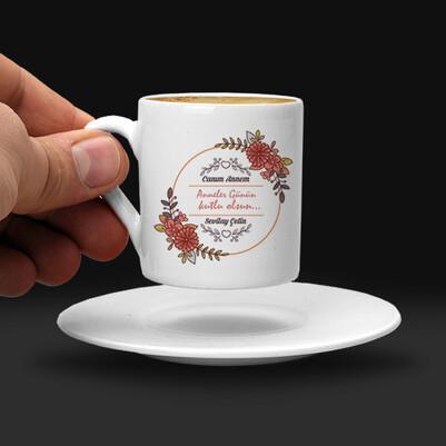 Anneler Günü Tasarımlı Kahve Fincanı - Thumbnail