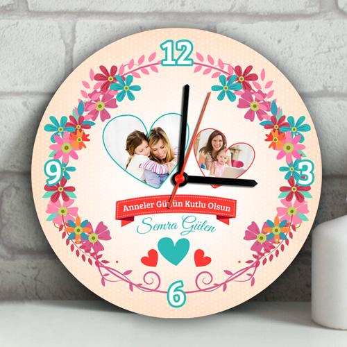 Anneler Günün Kutlu Olsun Duvar Saati