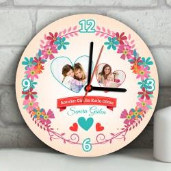 - Anneler Günün Kutlu Olsun Duvar Saati