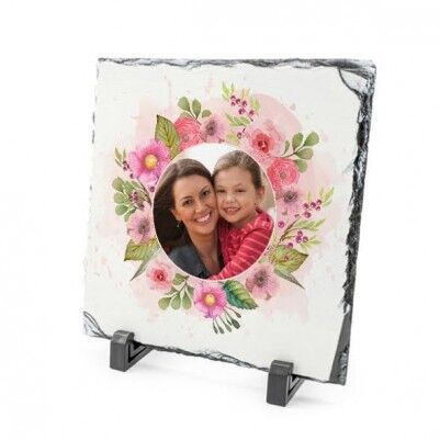 - Anneler Gününe Özel Çiçek Motifli Taş Baskı