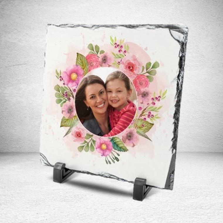 Anneler Gününe Özel Çiçek Motifli Taş Baskı
