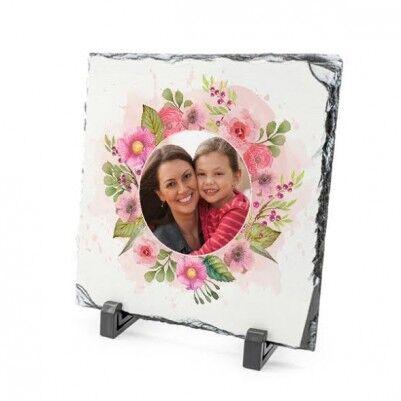 Anneler Gününe Özel Çiçek Motifli Taş Baskı - Thumbnail