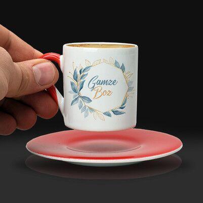 Annelere Hediye İsme Özel Kahve Fincanı - Thumbnail