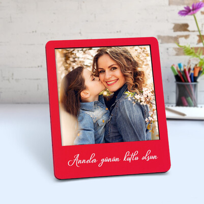 - Annelere Özel Ahşap Polaroid Çerçeve