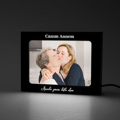 Annelere Özel Led Işıklı Resim Çerçevesi - Thumbnail
