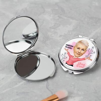 Annelerin En Güzeli Karikatürlü Makyaj Aynası - Thumbnail