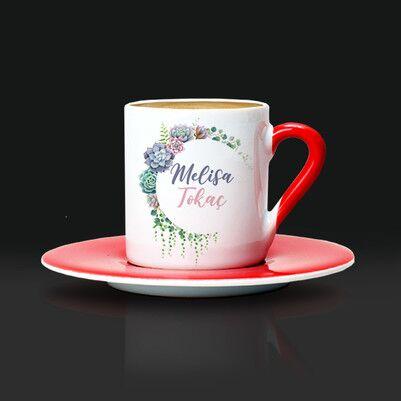 Anneme Hediyem İsimli Kahve Fincanı - Thumbnail