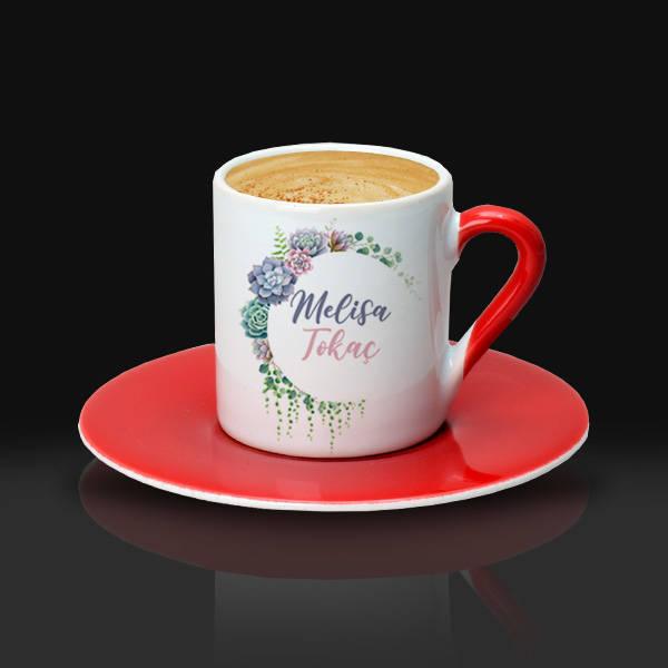 Anneme Hediyem İsimli Kahve Fincanı