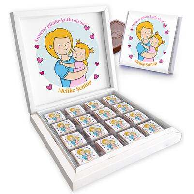 - Anneme Sevgim Mesajlı Kutu Çikolata