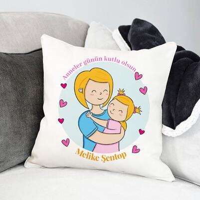 - Anneme Sevgim Mesajlı Yastık