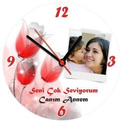 - Annemi Çok Seviyorum Duvar Saati