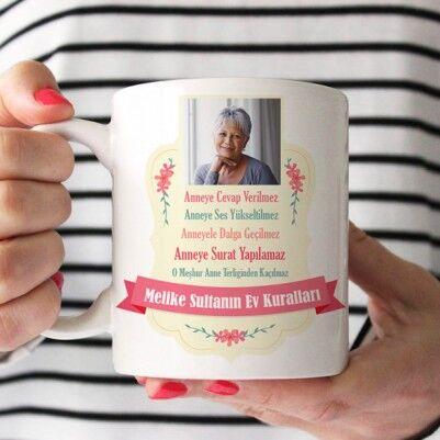 - Annemin Ev Kuralları Esprili Kupa Bardak