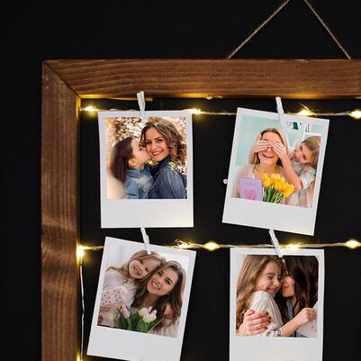 Anneye Hediye Işıklı Anı Çerçevesi - Thumbnail