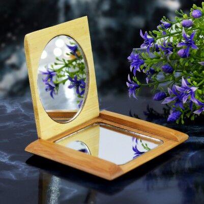 Anneye Özel Ahşap Makyaj Aynası - Thumbnail