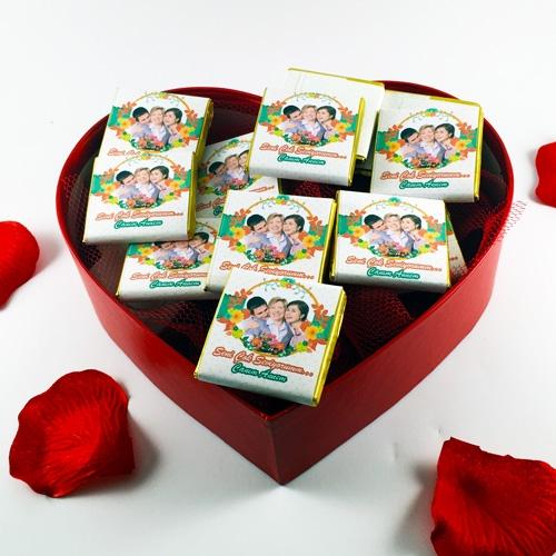 Anneye Özel Fotoğraf ve Mesajlı Çikolatalar