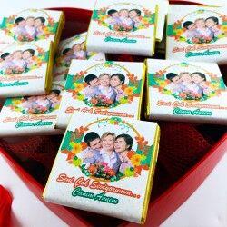 Anneye Özel Fotoğraf ve Mesajlı Çikolatalar - Thumbnail