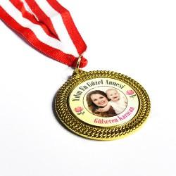 Anneye Özel Fotoğraflı Madalyon - Thumbnail