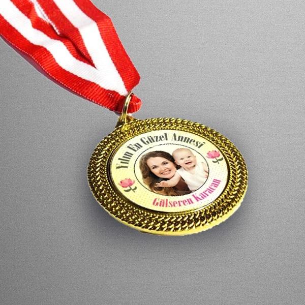 Anneye Özel Fotoğraflı Madalyon