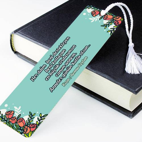 Anneye Özel Mesajlı Kitap Okuma Ayracı