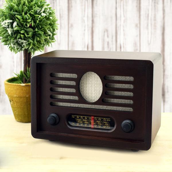Anneye Özel Nostaljik Ahşap Radyo