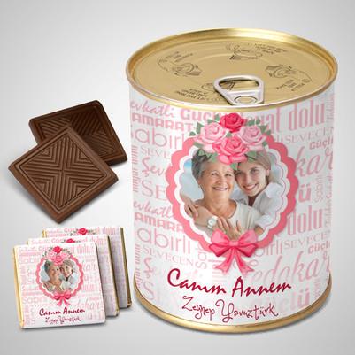 - Anneye Sürpriz Çikolata Konservesi