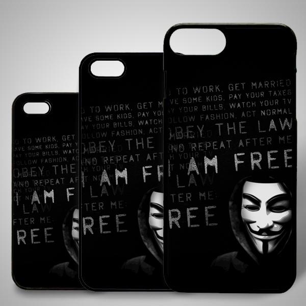Anonymous Baskılı iPhone Telefon Kapağı