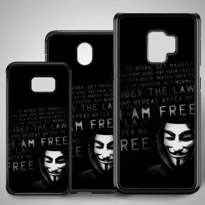 - Anoymous Resimli Samsung Telefon Kılıfı