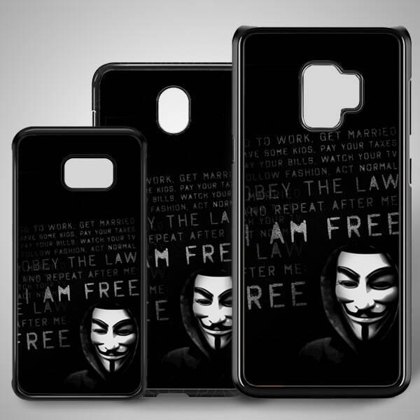 Anoymous Resimli Samsung Telefon Kılıfı