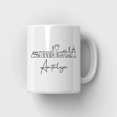 Antalya Temalı Kupa Bardak - Thumbnail