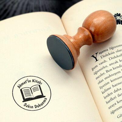 - Arkadaşa Hediye Kütüphane Kitap Mührü