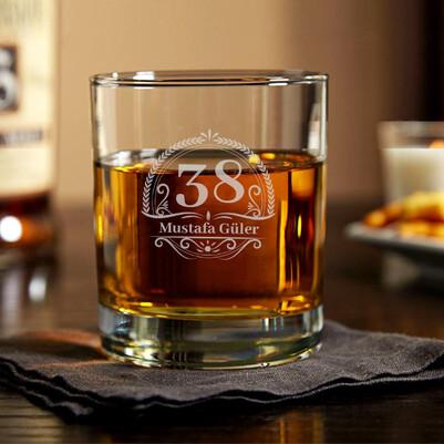 - Arkadaşa Yaş Günü Temalı Viski Bardağı