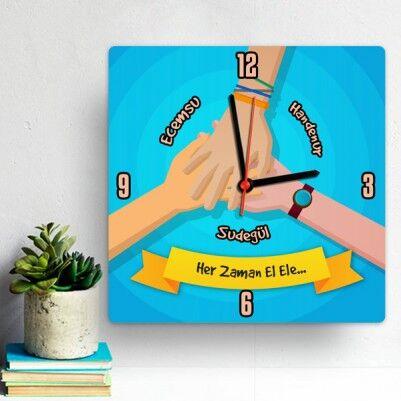 - Arkadaşlık Temalı Hediye Duvar Saati