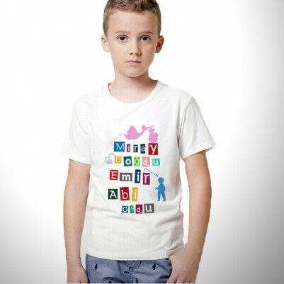 - Artık Abi Oldun Erkek Çocuk Tişörtü
