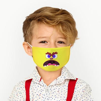 - Asabi Kuş Tasarımlı Yıkanabilir Çocuk Maskesi