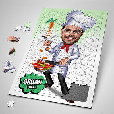 - Aşçı Şef Karikatürlü Puzzle