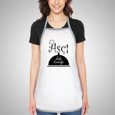 Aşçılara Özel İsim Yazılı Mutfak Önlüğü - Thumbnail