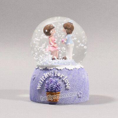- Aşık Çiftler Romantik Kar Küresi - KK99