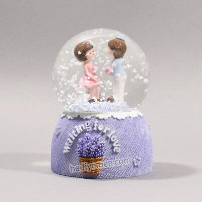 Aşık Çiftler Romantik Kar Küresi - KK99 - Thumbnail