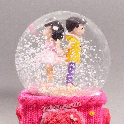 Aşık Çiftlere Özel Kar Küresi - KB14 - Thumbnail