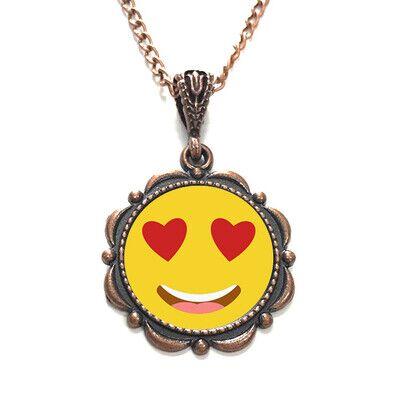 - Aşık Emoji Metal Kolye