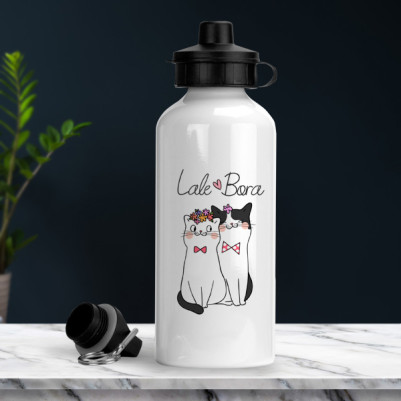 Aşık Kedicikler İsme Özel Suluk - Thumbnail