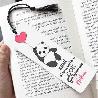 - Aşık Panda Romantik Kitap Ayracı