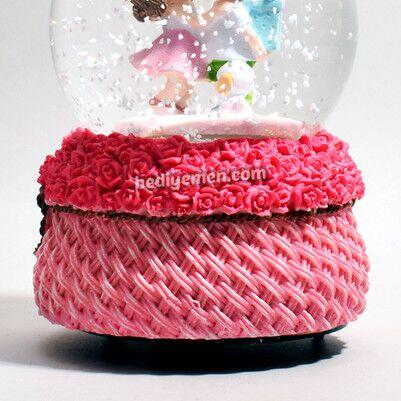Aşık Sevgililer Romantik Kar Küresi KB23 - Thumbnail