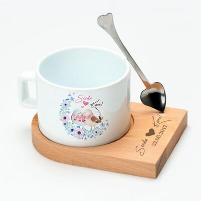 Aşıklara Özel Tasarım Lüks Çay Fincanı - Thumbnail